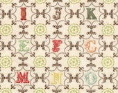 Julie Comstock of Cosmo Cricket for Moda, Odds and Ends, A to Z in Vintage 37045.11 - 1 Yard
