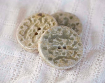 Wood Fired Lionheart Buttons - Stoneware Clay