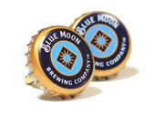 Blue Moon Bottle Cap Cuff Links