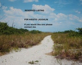RESERVED LISTING for Kristie Laughlin    Sandy Trail 5 x 7 Glossy Fine Art Photograph Print Glossy Set of 3