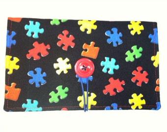 Autism Puzzle Piece Coupon Wallet Case