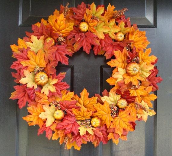 Decorating Ideas > Thanksgiving Fall Wreath Pumpkin Pie Thanksgiving B ~ 070224_Thanksgiving Decorations On Etsy