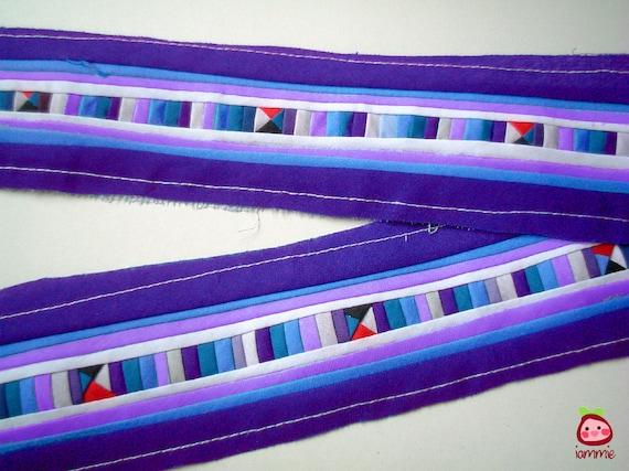 Lisu Textile, Lisu Fabric, hmong, hmong fabric, hill tribe, quilt, embroider, bright, blue, craft, fabric, textile, garment, stripe, iammie