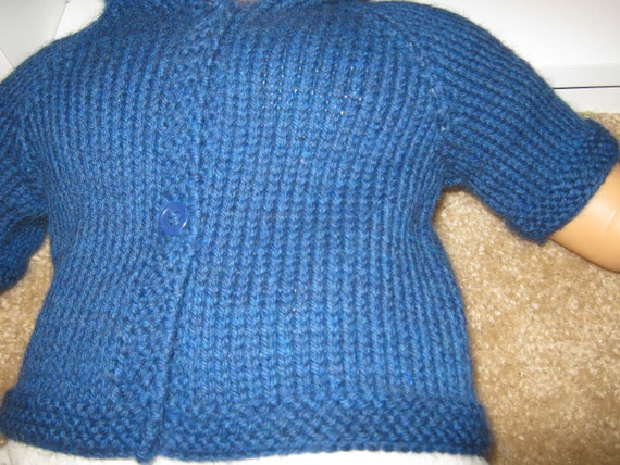Hooded Wool Knit Baby Sweater Size 3 Months