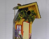 Bent Birdhouse, Hand Made and Hand Painted