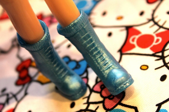 Blythe Blue Shimmery Doc Marten Boots