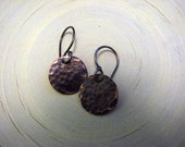 Small Copper Disc Earrings