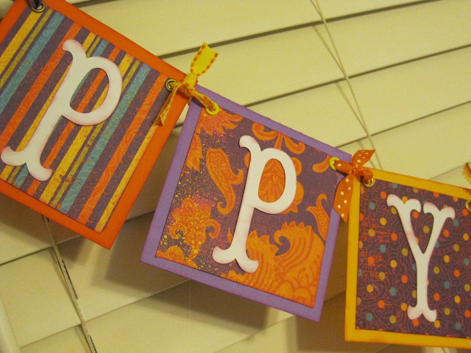 Happy Birthday Banner Fall Colors