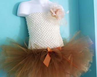 GoldDust - Shimmer Gold Tulle Skirt - Sewn Tutu -  your choice of size and length - mini through floor length