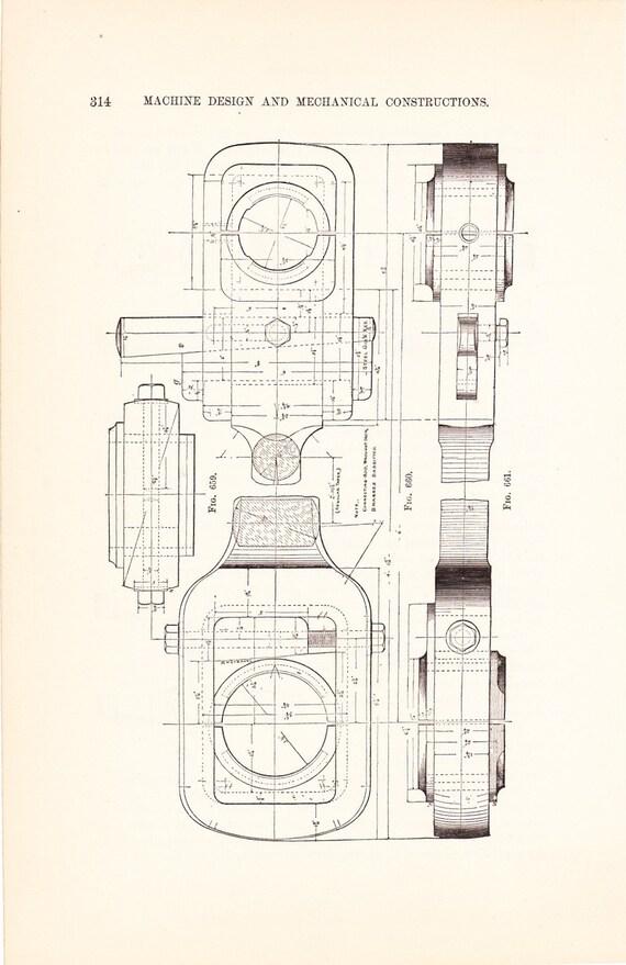 1885 technical drawing antique math geometric mechanical like this item malvernweather Choice Image