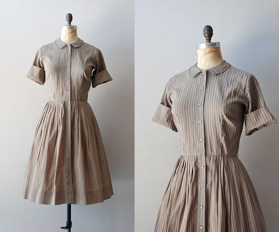 1950s dress / vintage 50s shirtdress / Salie Shirtwaist dress