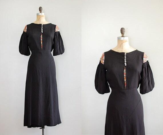 1930s dress / 30s dress / Modes Slovaques dress