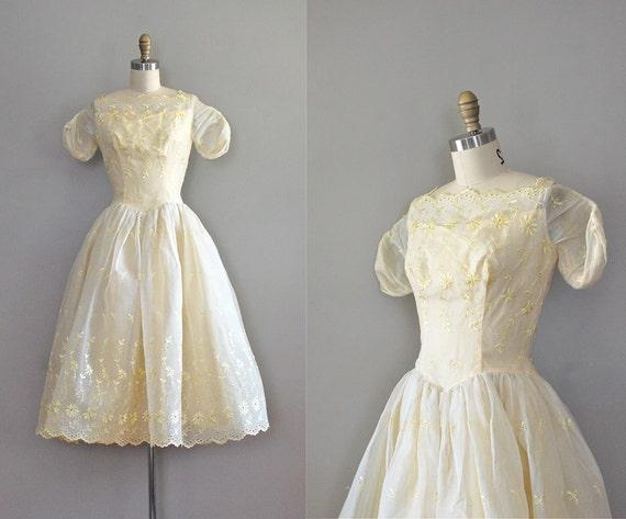 S A L E ... 1950s dress / 50s dress / Cream Puff dress