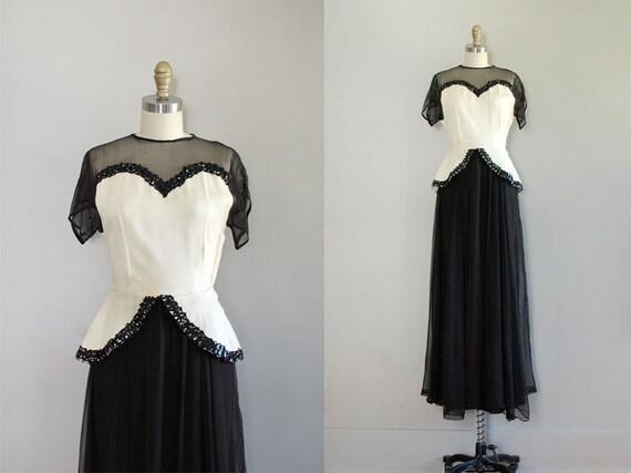 1930s dress / 30s dress / maxi dress /  Quick Millions dress