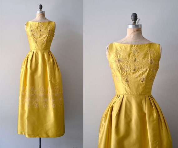 1960s dress / 60s maxi dress / Sublime Illumination gown
