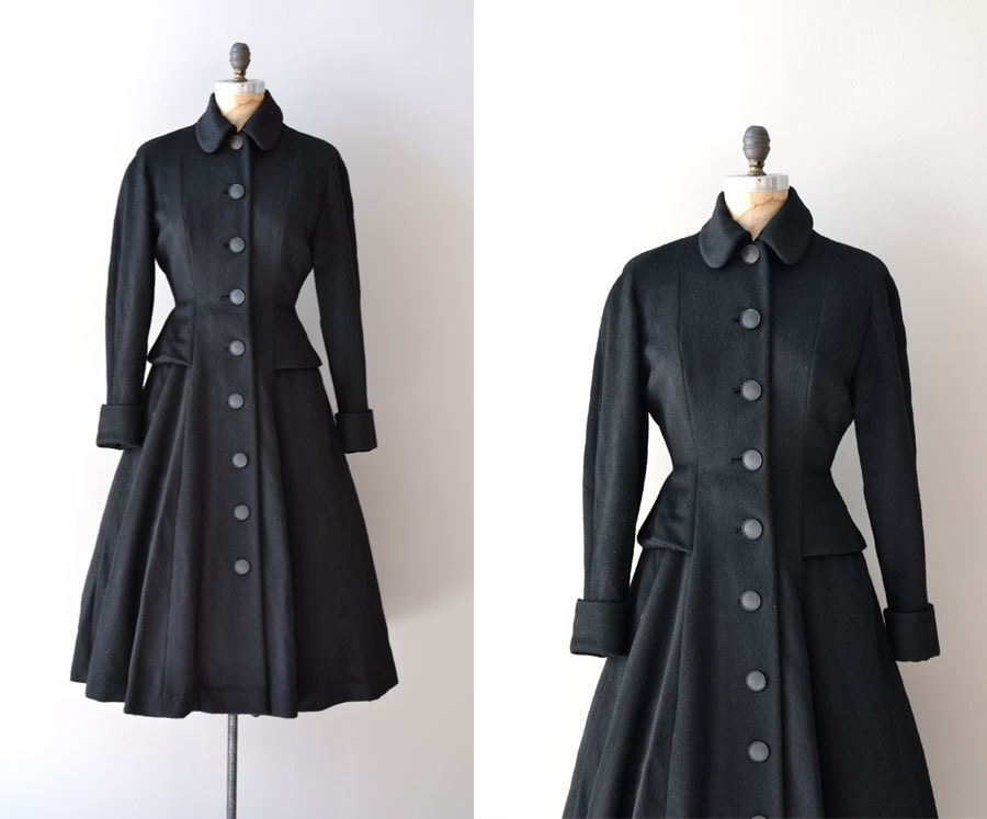 vintage 1940s coat 40s wool princess coat moonlight skate