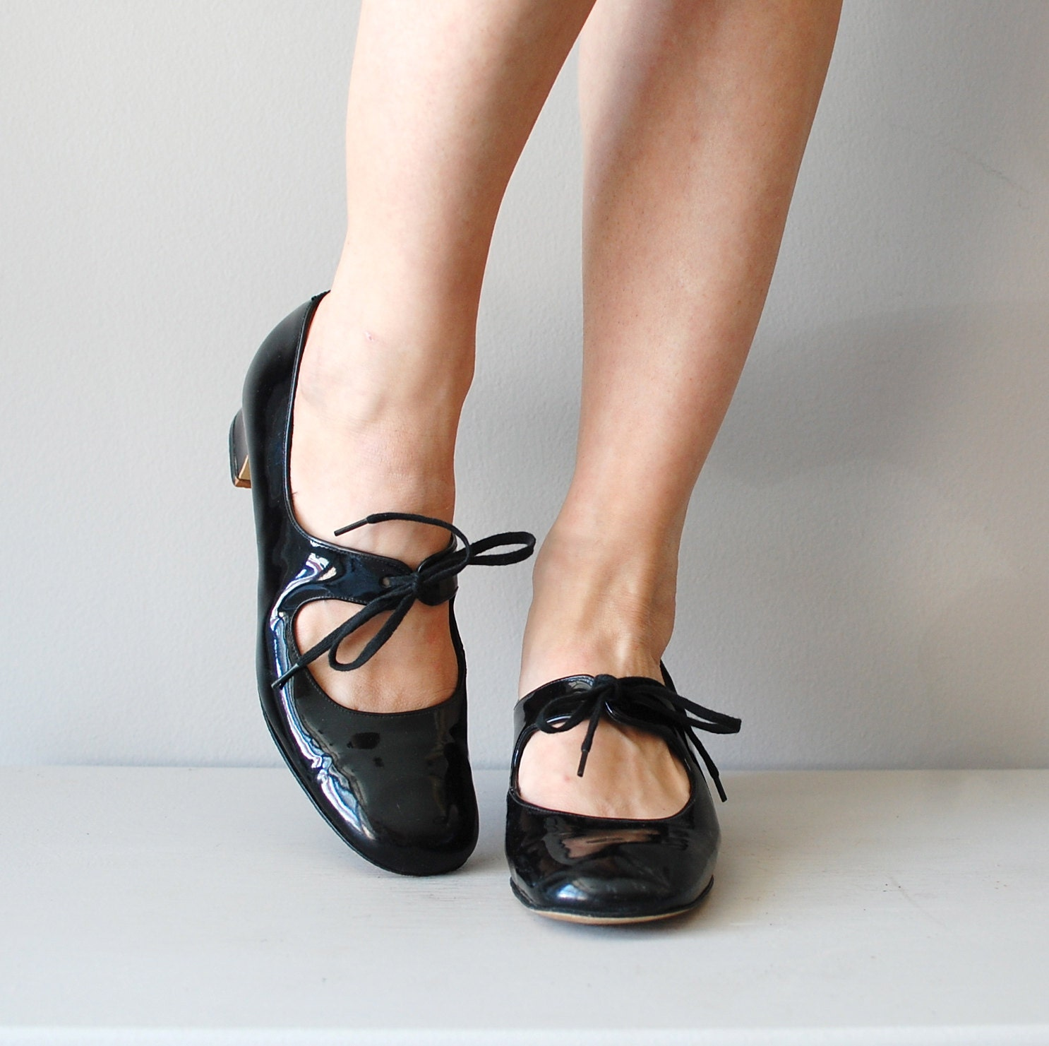 Black Patent Mary Jane Tap Shoes