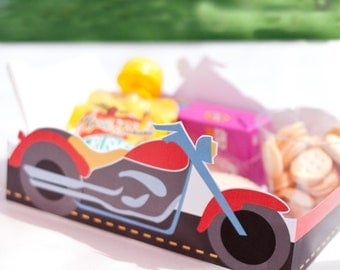 Motorcycle Printable LUNCH / SNACK TRAY >> Instant Download | Paper and Cake