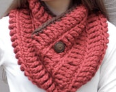 Rustic Red Buttoned Cowl