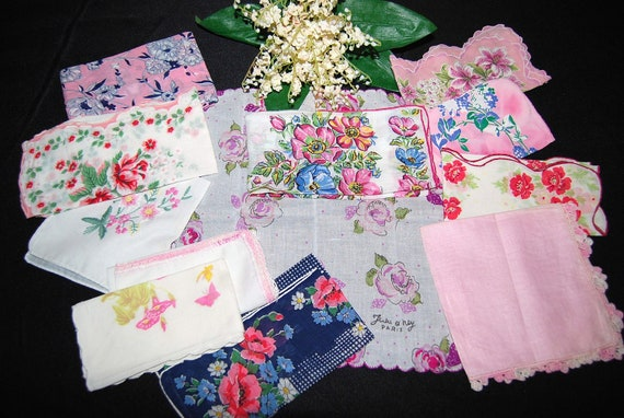 Vintage Hankies Touch of Pink Collection