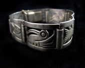 Laffi influence Vintage Peruvian Silver Bracelet