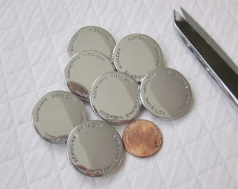 """14 Silver Metal Adrienne Vittadini Shank Buttons - 1"""""""