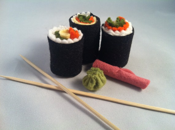 Felt Food Toys R Us : Items similar to sushi play felt food set for toy kitchen