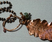 Necklace Autumn Oak Leaf Woodland Copper
