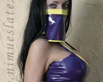 Latex Face Veil, perfect for a harem girl or genie costume.  Made-to-order.