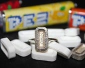 Pez Ring. Candy. Sterling silver. Handmade. Contemporary design.