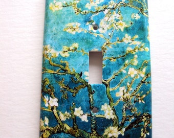 Van Gogh Almond Tree Switchplate Cover / Almond Tree Light Cover / Switch Cover Single / Switchplates / Double switchplate cover / Van Gogh