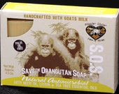 Save the Orangutan Soap, Natural Antimicrobial with Neem, Tea tree, and lemon essential oil