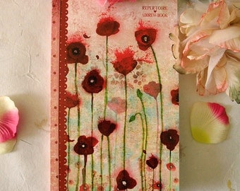Address Book - Poppies