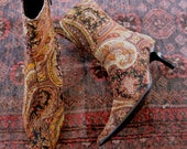 Velvet  Vintage Paisley Print Boots from Basia's Personal Collection