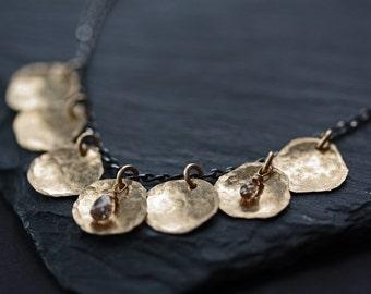 Champagne Diamond Petal Necklace