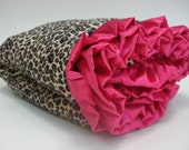 Leopard Animal Print Minky Baby Blanket - Brown and Pink Minky Baby Blanket - Pink Cheetah Baby Blanket