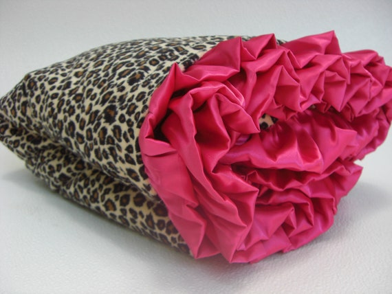 Leopard Animal Print Minky Baby Blanket - Brown and Pink Minky Baby Blanket - Pink Cheetah Baby Blanket