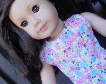 18 inch Doll Clothes - Pink Garden Anytime Dress - BACK TO SCHOOL - fits American Girl