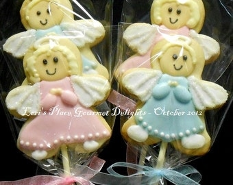 Angel Cookie Pops - 1 Dozen