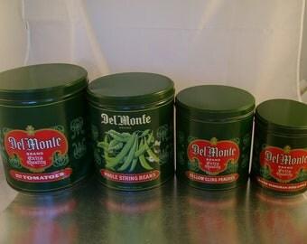 Vintage Del Monte Canister Nesting Set