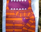 Feed Me Cat Tea towel