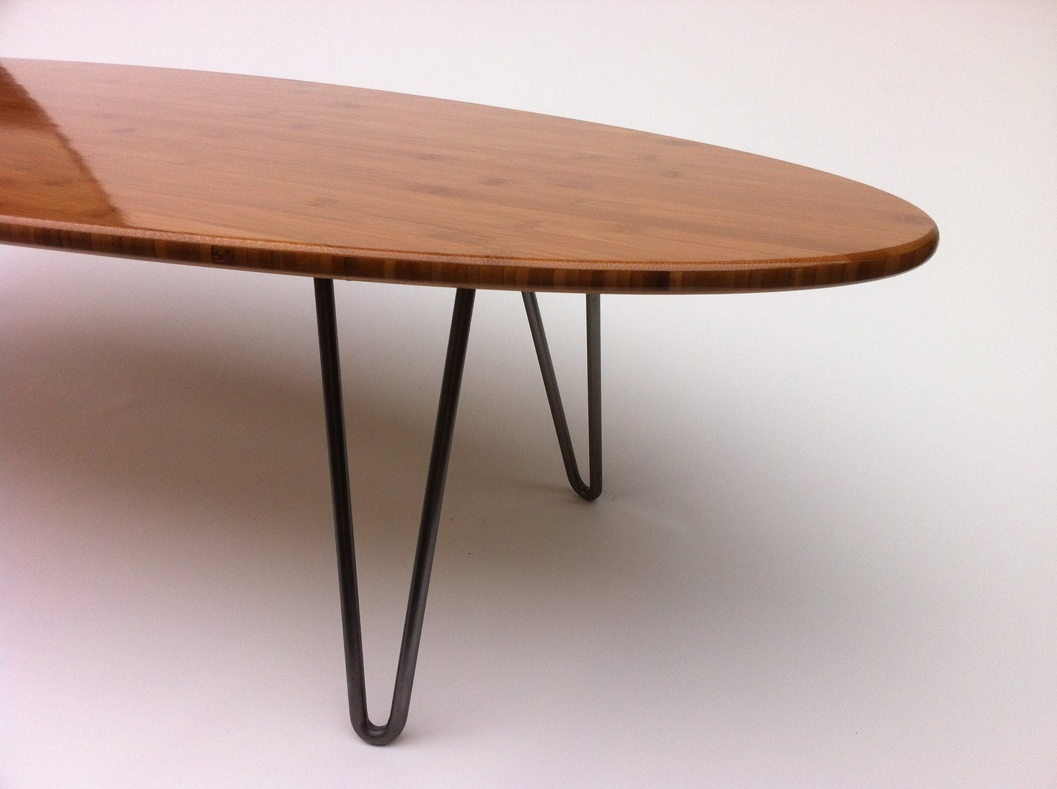 Mid century modern hairpin side tables