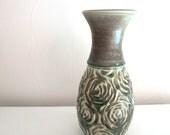 rustic rose vase
