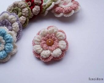 Kawaii Flower Corsage Brooch Pink x White