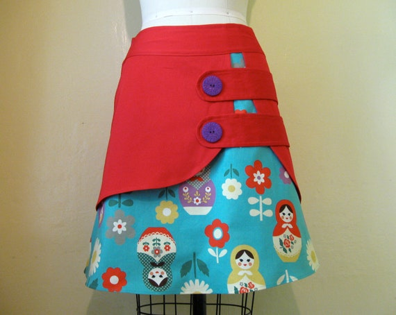 Babushka double layer skirt Sz 4