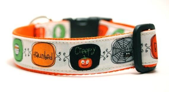 Happy Halloween - Custom Halloween Dog Collar