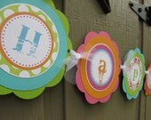 Sugar Skull Theme Happy Birthday Banner - You choose the colors