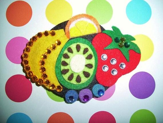 Fabulous Felt Fruit Tart Barrette