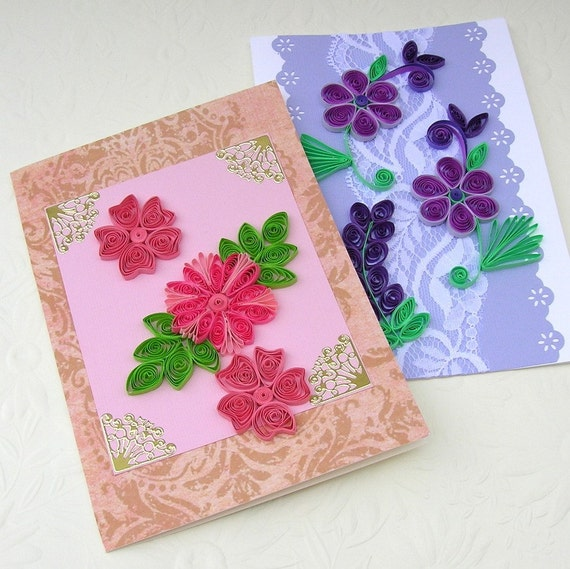 sale quilling greeting cards paper quilled by enchantedquilling, Greeting card