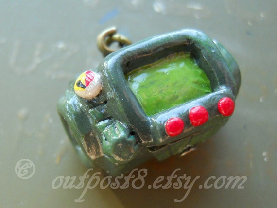 Fallout inspired Pipboy 3000 necklace or keychain. For the vault dweller.